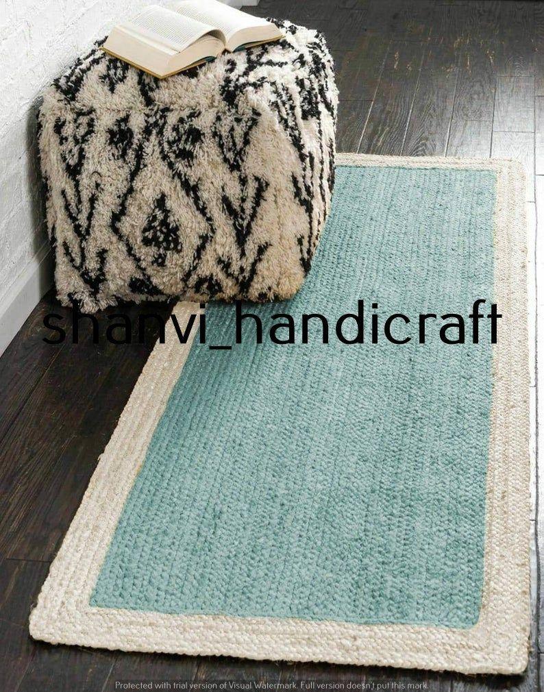 Rug Cotton Reversible Area Carpet Vintage Runner Multi-Color Yoga Dhurrie Mat
