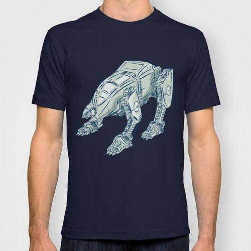 Mecha Bot High Angle Etching T-shirt