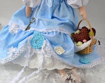 Angel Tilda Tonos pastel. casa de hadas. por JuliaDollhouse en Etsy