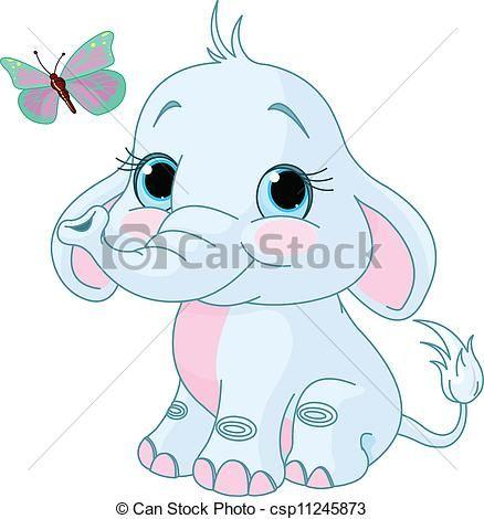 Caricaturas De Elefantes Bebés Imagui Por Hacer Pinterest