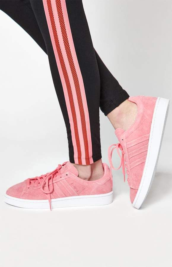 pretty nice 10280 16488 adidas Womens Pink Campus Stitch And Turn Sneakers
