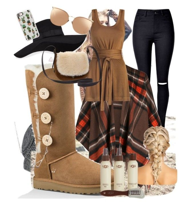 """""""Winter uggs"""" by noelle20018 ❤ liked on Polyvore featuring UGG, Zimmermann, San Diego Hat Co., Linda Farrow and Casetify"""