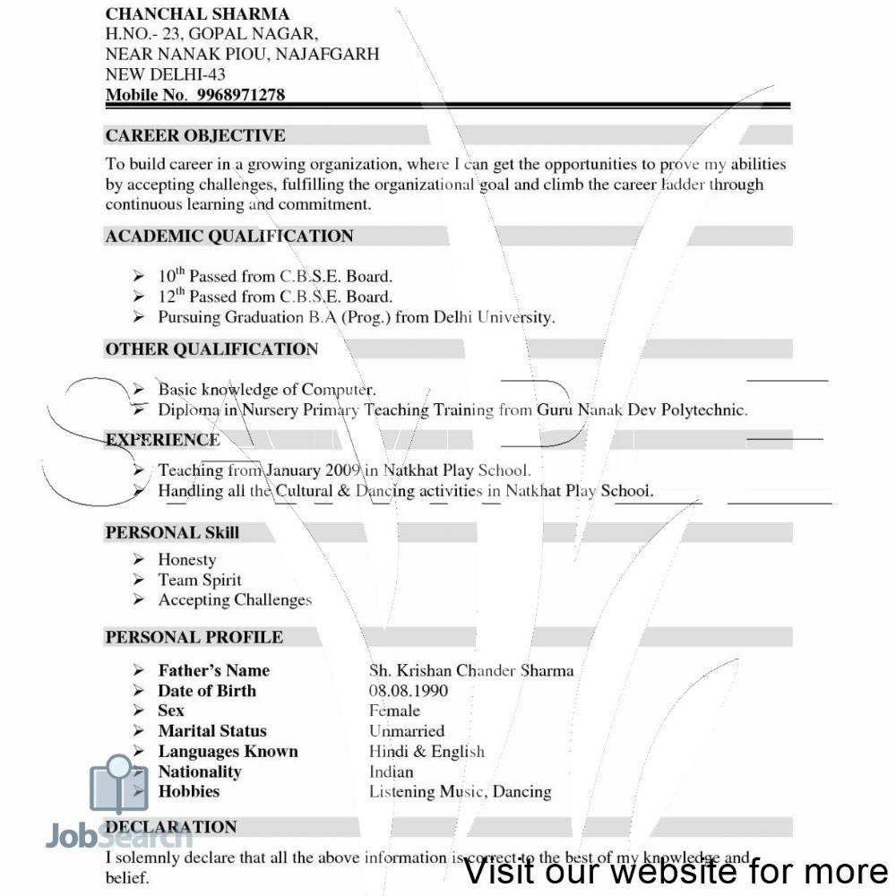 Resume Format Free Download in Ms Word Australia in 2020