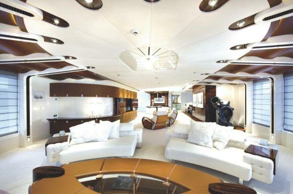 """luxuriose innenausstattung yacht vive la vie, die luxuriöse innenausstattung der yacht """"vive la vie, Design ideen"""