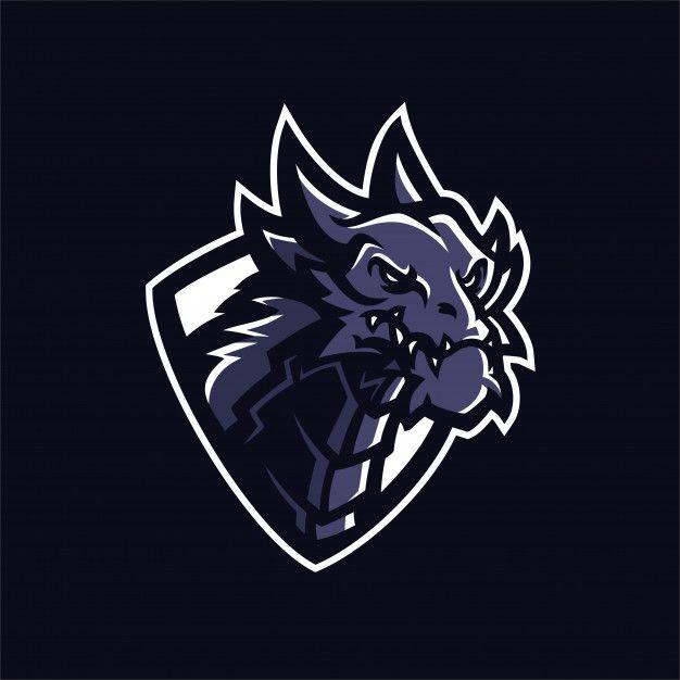 Dragon Esport Gaming Mascot Logo Template