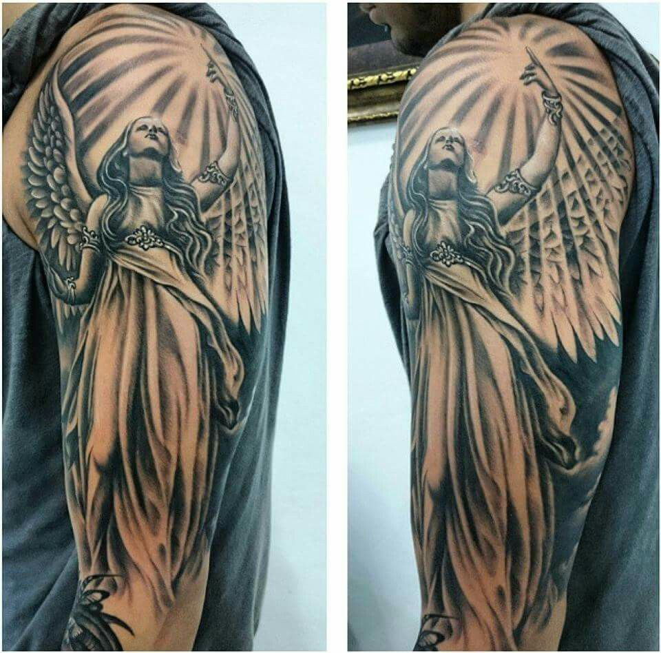 41++ Amazing Guardian angel forearm tattoo image ideas