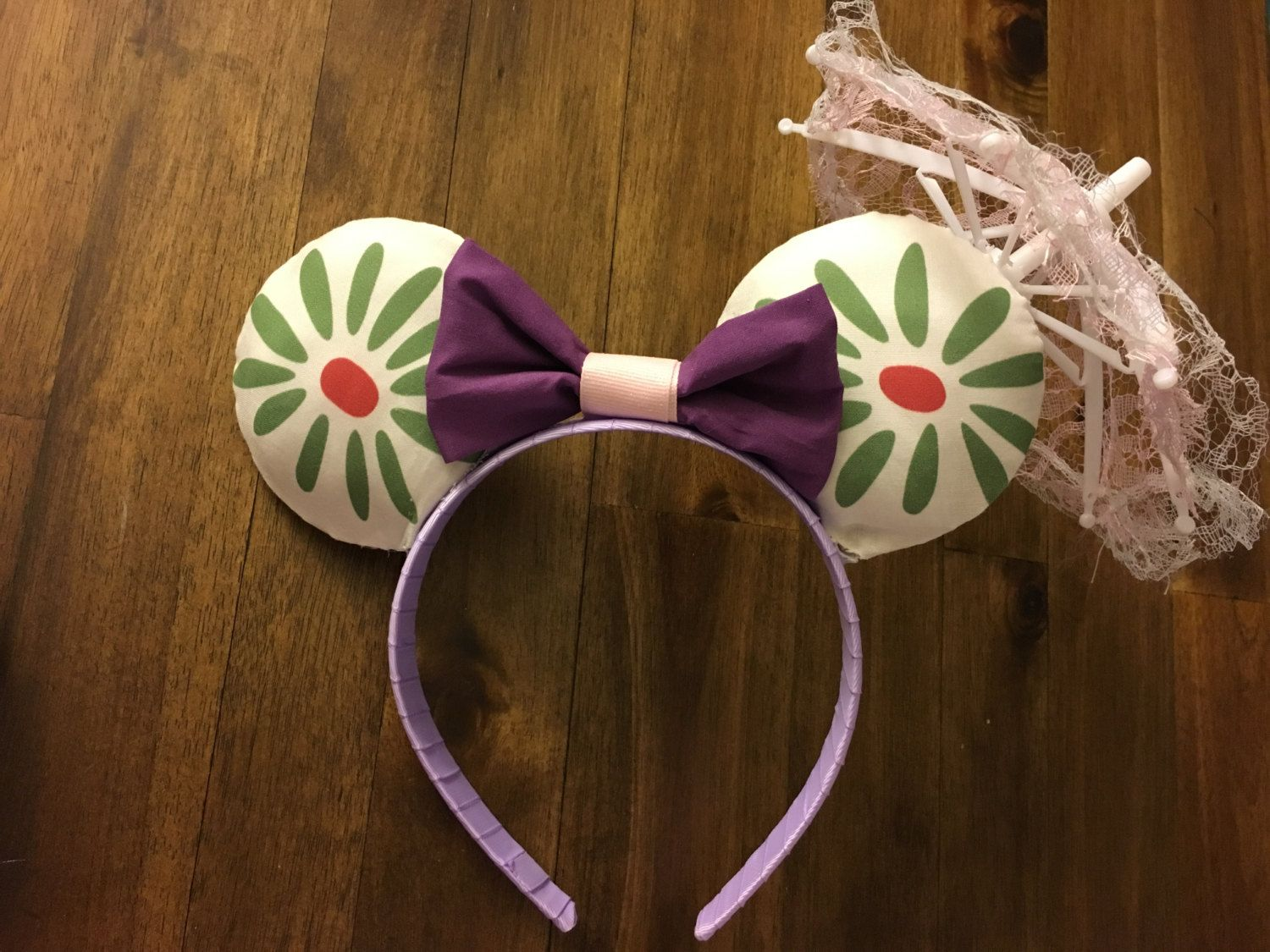 Disney Park Minnie Ears Mickey Cos Haunted Mansion Tightrope Girl Bow Headband