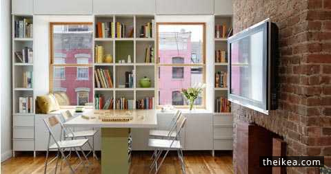 Little Apartment Storage In A White Sensation - //www.theikea ... on hide television design ideas, bedroom designs, western bedroom ideas, bedroom wall art, shelving ideas, bedroom shelf for candles, storage for small bedrooms ideas, beautiful bedroom ideas,
