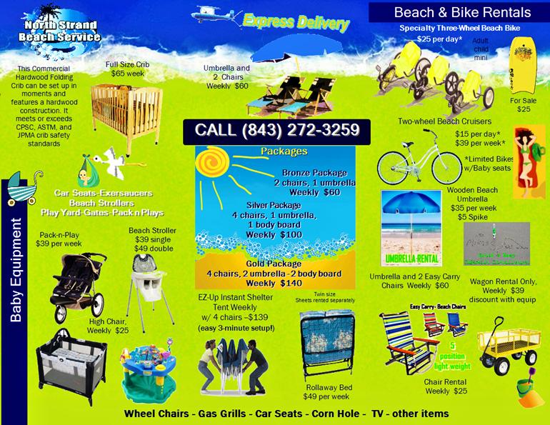 Equipment Rentals For Your Myrtle Beach Vacation Bike Rentals Beach Equipment And Crib Rentals Myrtle Beach Vacation Myrtle Beach Family Vacation