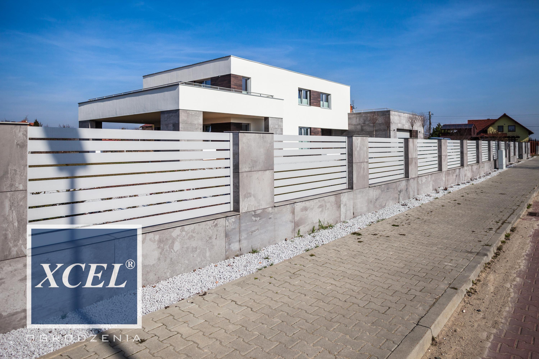 nowoczesne ogrodzenia aluminiowe katowice xcel horizon | Nowoczesna ...
