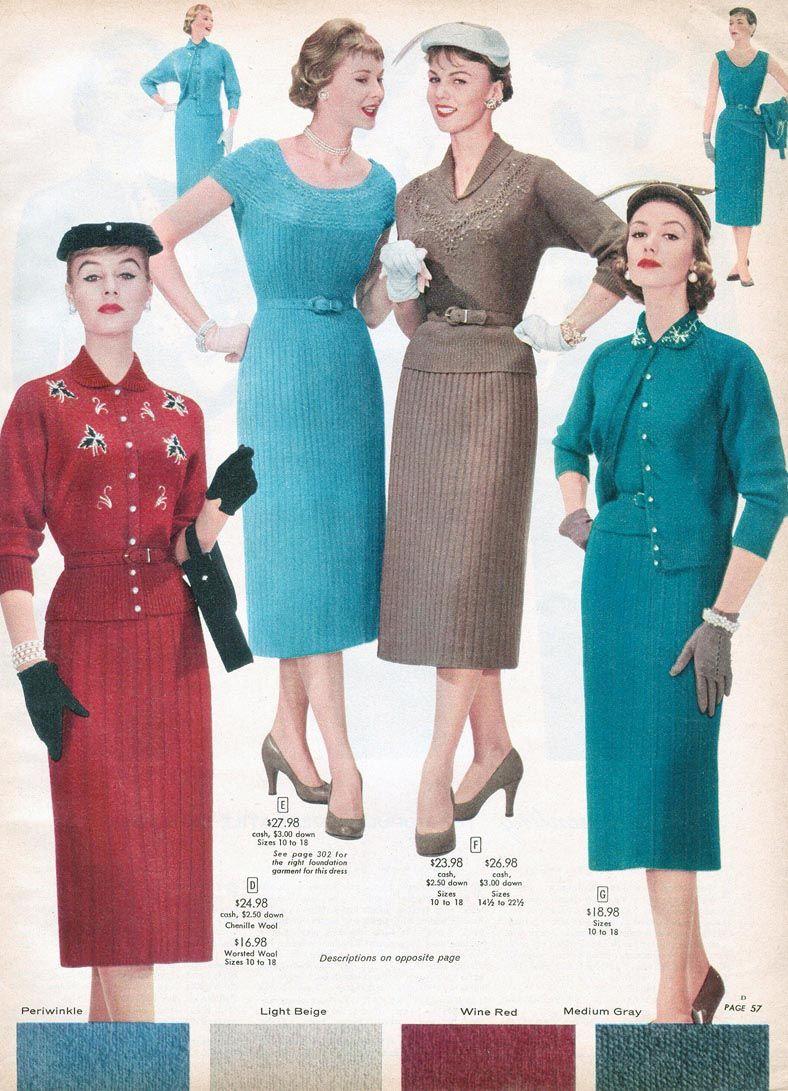 bde6f946c1e 1956 Sears Catalog 37 pages of fabulous Dresses PDF FAS103 K ...