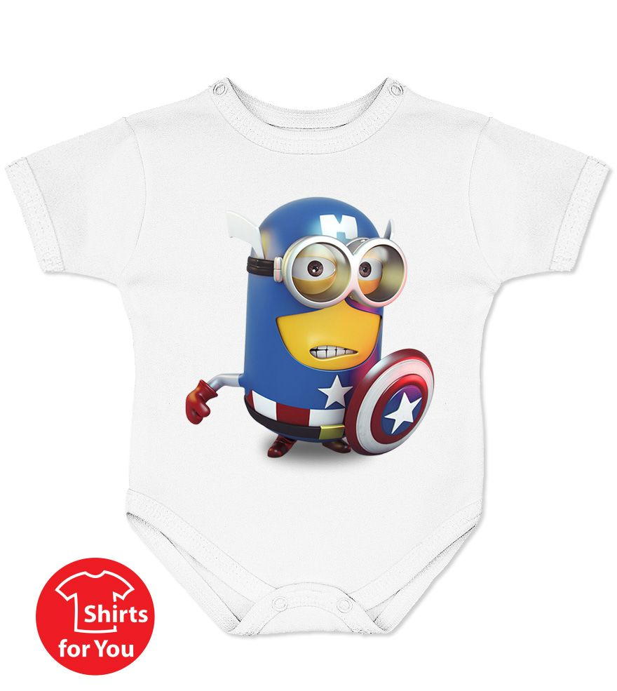 Captain America Minions Baby Onesie Minions T Shirts