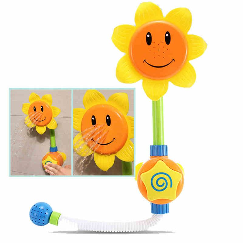 Children Sunflower Shower Baby Bath Toys Faucet Bath Learning Toy ...
