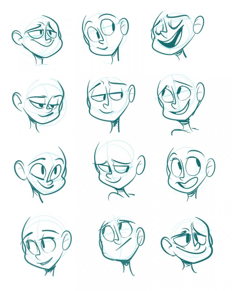 10 Cartoon Drawing Facial Expression Ideas - Brighter Craft
