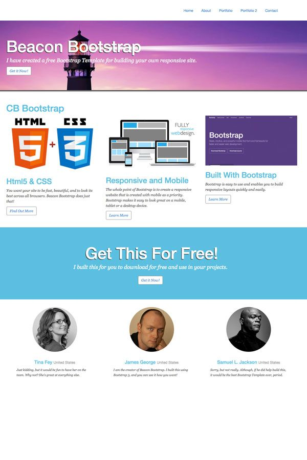 Free Website Template Beacon Bootstrap Template Creative Beacon Bootstrap Template Website Template Free Website Templates