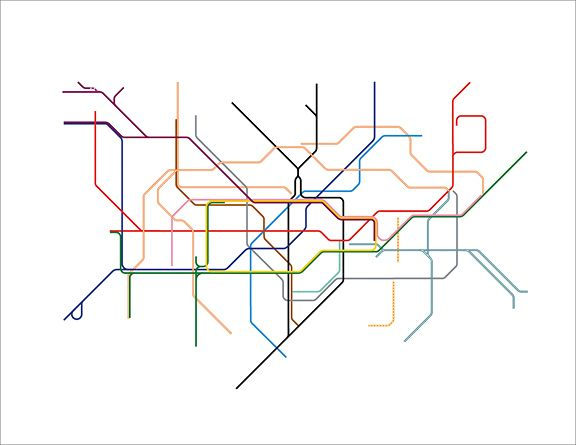 Subway Map Art Boston.Bobby Davies Subway Map Lines Graphics Love Subway Map Line