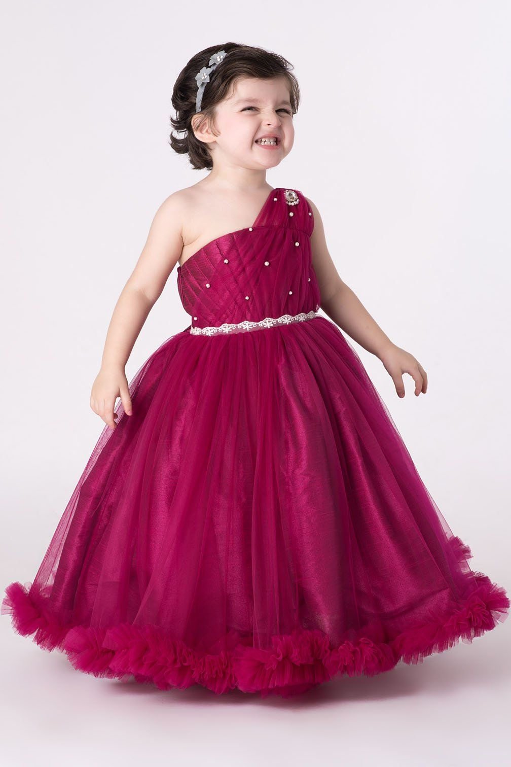 dc9692ae1 Dainty #pink #gown is a great pick for your little #princess to adorn at  any #party occasion.