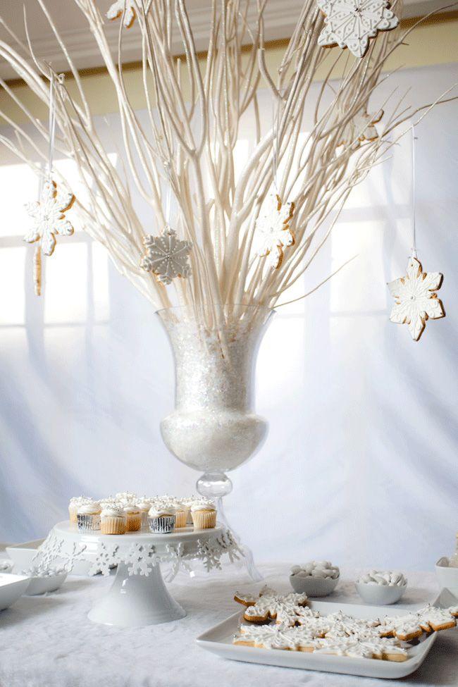 Ordinary White Christmas Theme Party Ideas Part - 9: White Christmas Dessert Table