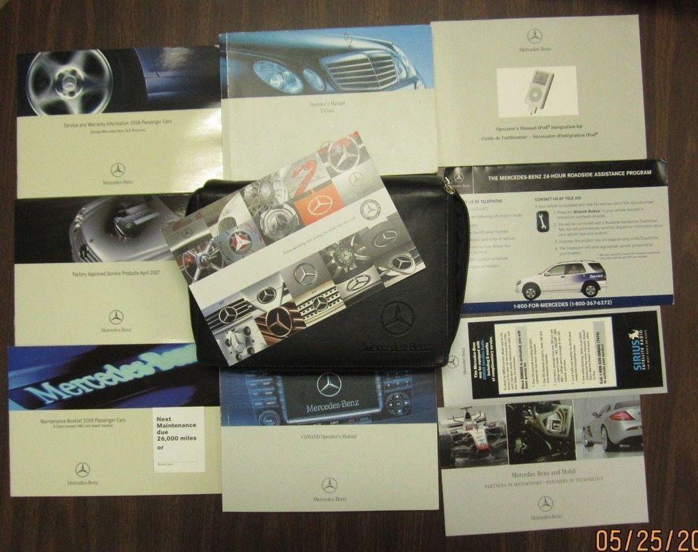 03-09 W211 MERCEDES BENZ E320 E500 E55 OWNERS MANUAL BOOK CASE INSTRUCTIONS