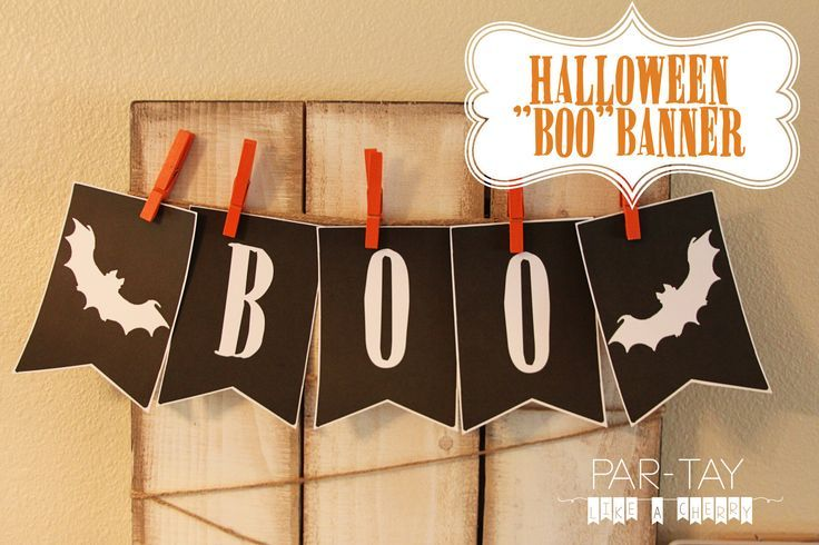 Free printable Halloween Boo Banner for your Halloween bash. Decorate for your Halloween party just by pressing print!