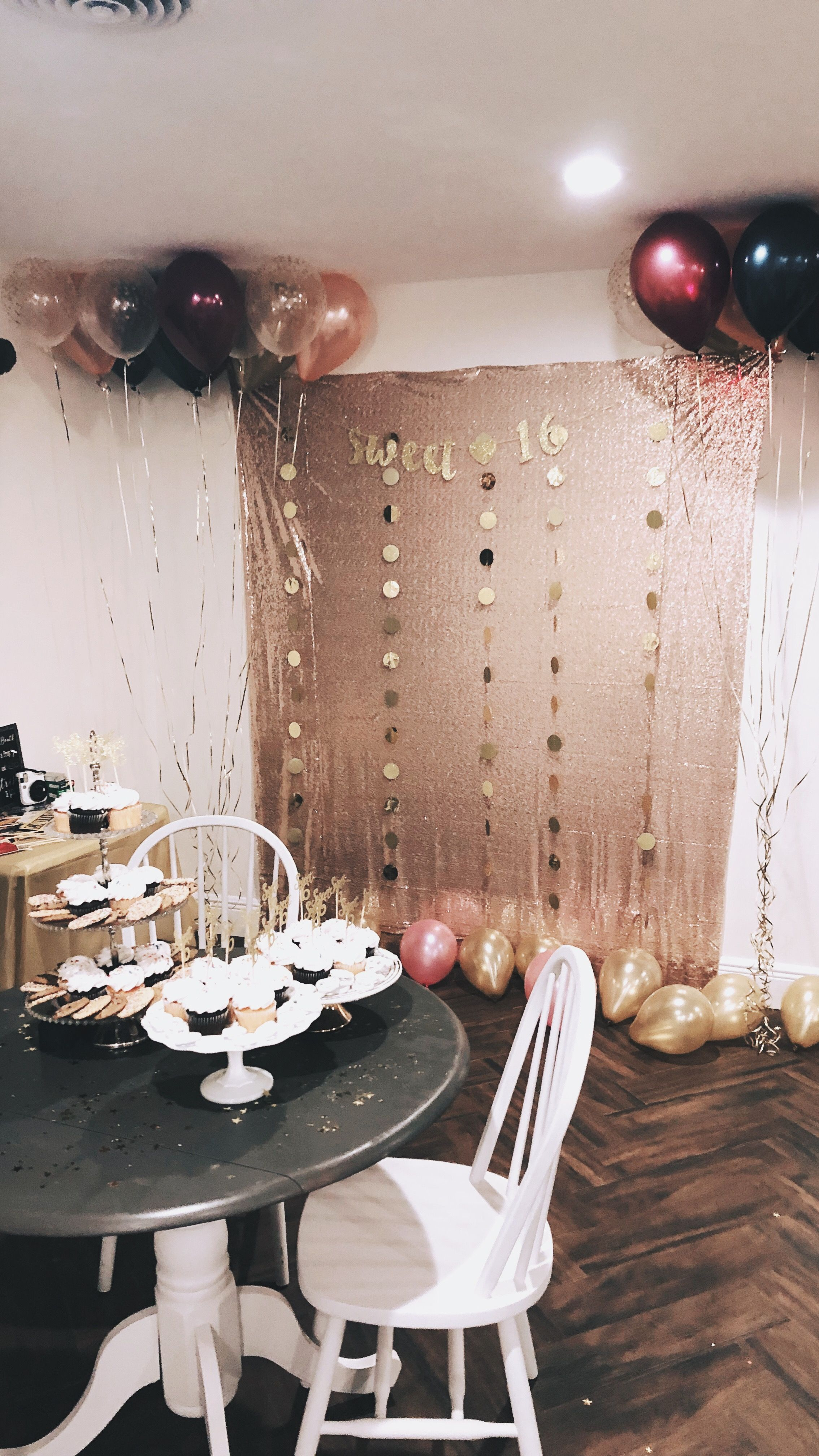 Photobooth Party Decor Gold And Pink Sweet 16 Pink Sweet 16