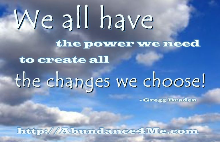 We all have the power we need...