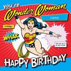 Wonder Woman Birthday Card Happy Wishes For Her