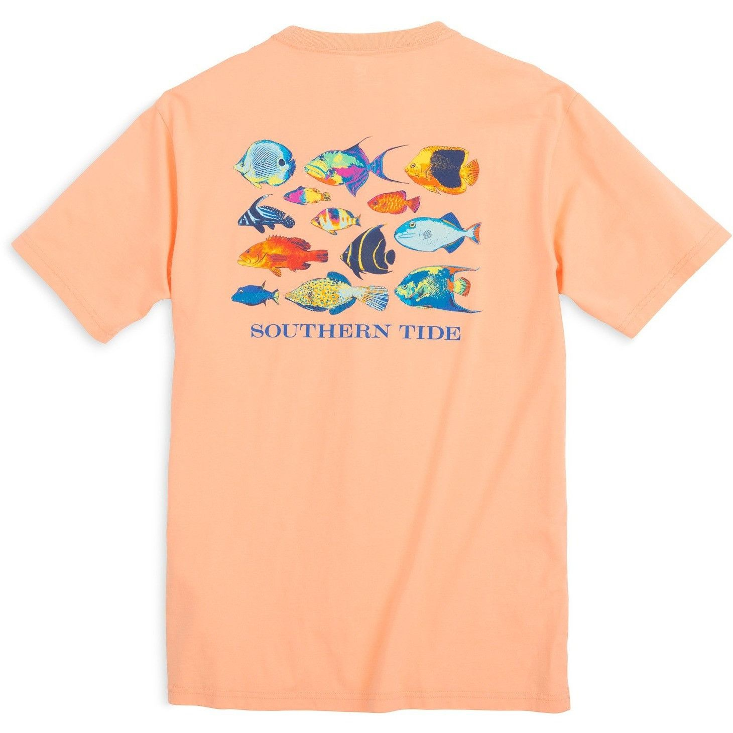 Southern Tide Caribbean Fish T-Shirt - Peach Fizz