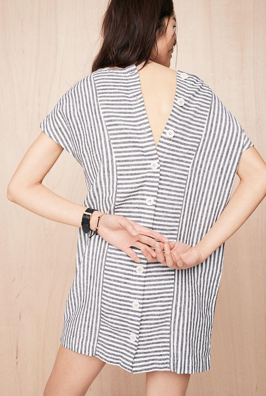 a895ba9581c madewell stripe-play button-back tee dress.