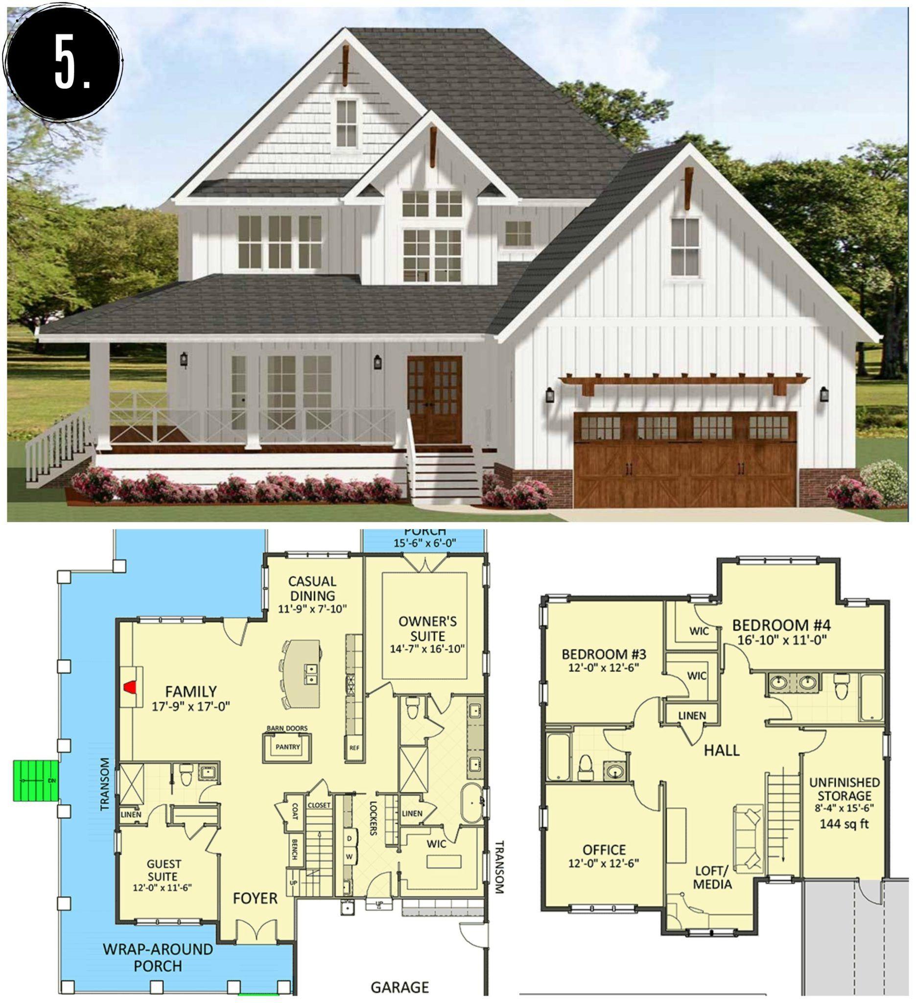10 NEW Modern Farmhouse Floor Plans Rooms For Rent blog