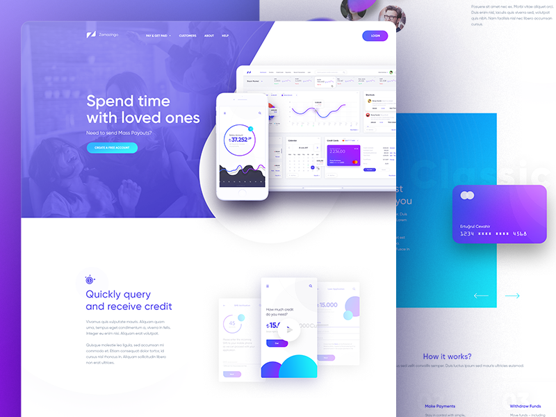 Finance app landing by alper tornaci dribbble also homepage design and ui ux rh pinterest