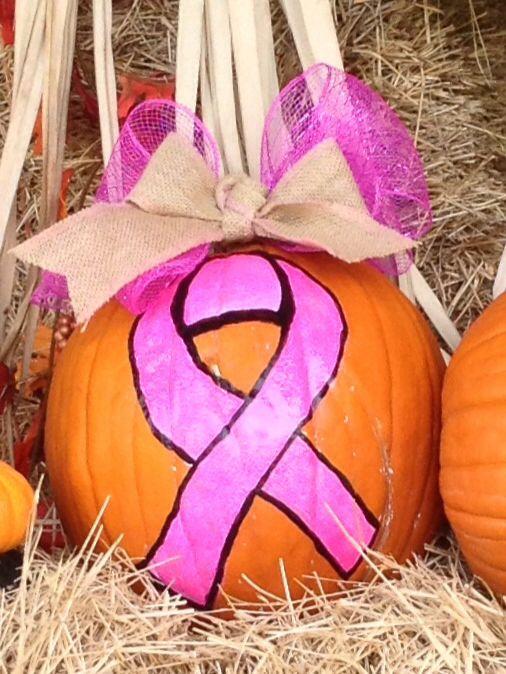 Breast-cancer awareness pumpkin