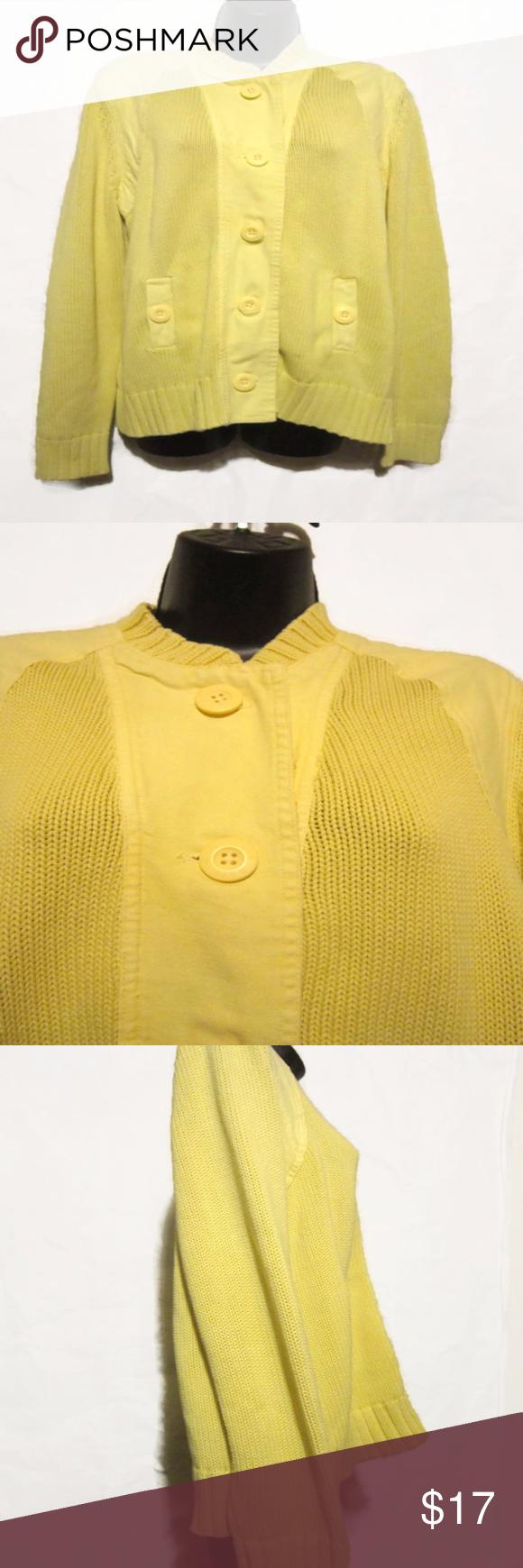 Ruff Hewn Womens Size XL Cardigan Jacket | Ruff hewn, Yellow ...