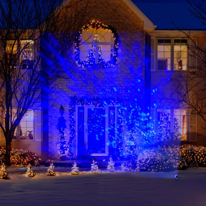 Lightshow Led Projection Kaleidoscope Christmas Lights Icy Blue Outdoor Holiday Gemmylig White Christmas Tree Lights Christmas Light Show Led Christmas Lights