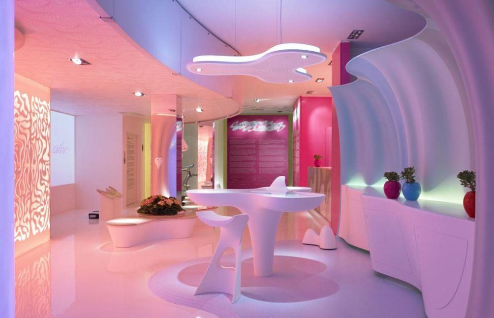Futuristic Home Interior Design By Karim Rashid U2013 Smart Ologic Corian Living