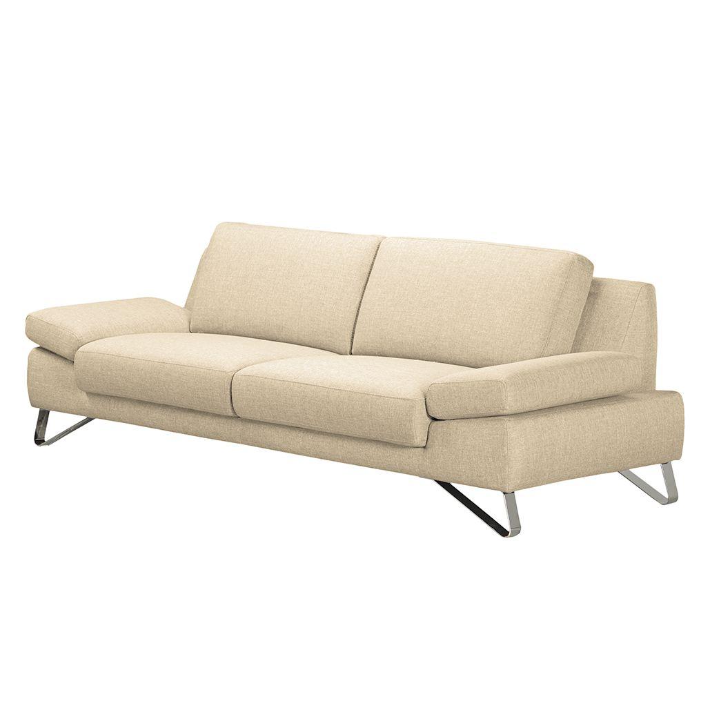 Sofa Silvano 2 5 Sitzer Webstoff Beige Couch Mit Schlaffunktion 3 Sitzer Sofa