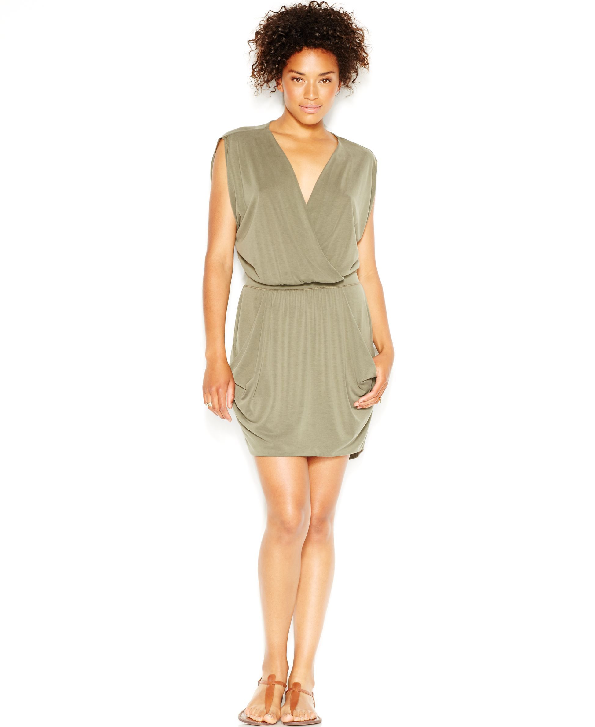 Rachel Rachel Roy Short-Sleeve Faux-Wrap Dress