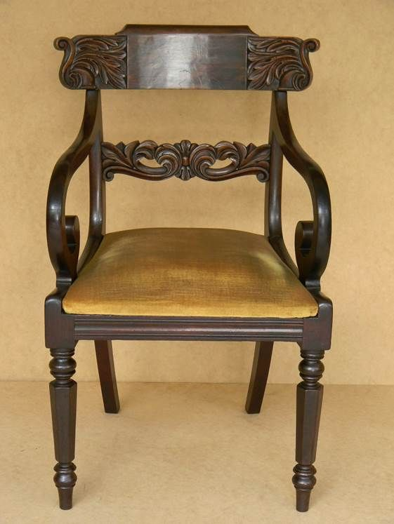 Blackwood Open Armchair Sydney Circa 1835 | Colonial ...