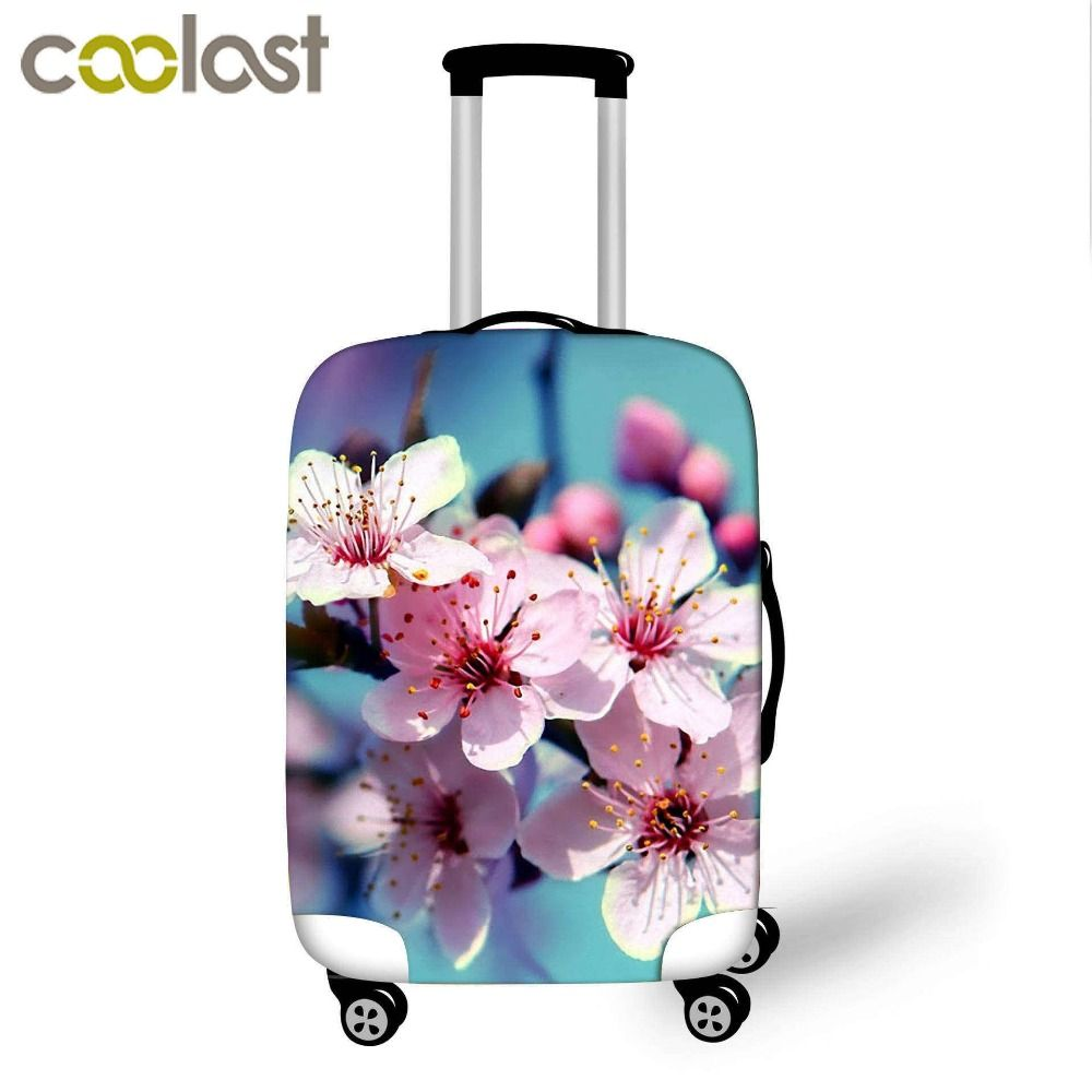 48f8d3ee4 Women Flower Cover for Suitcase Girls Dust-proof Protective Covers Luggages  valise bagages roulettes 70cm