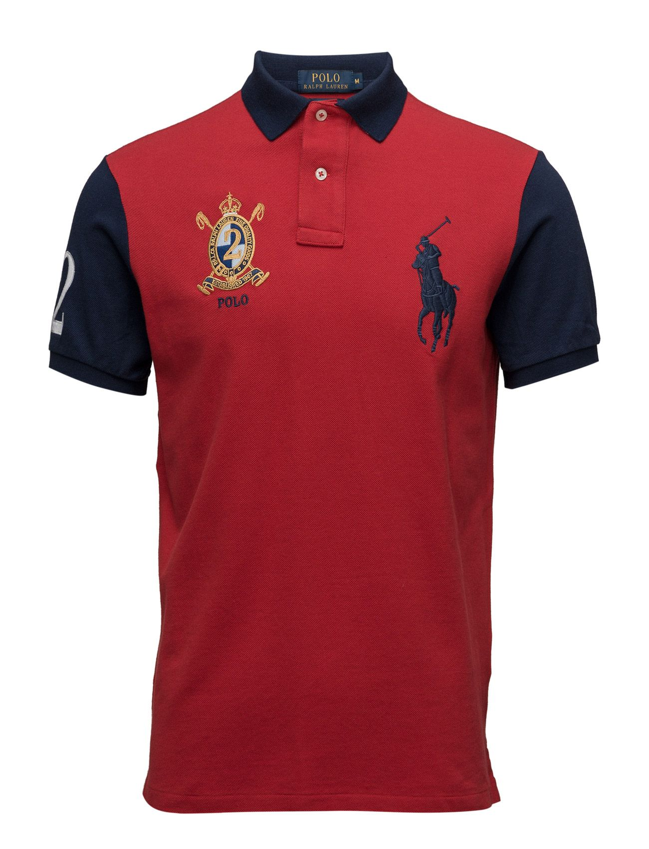polo ralph lauren custom-fit big pony polo shirt - polo shirts rl 2000 red