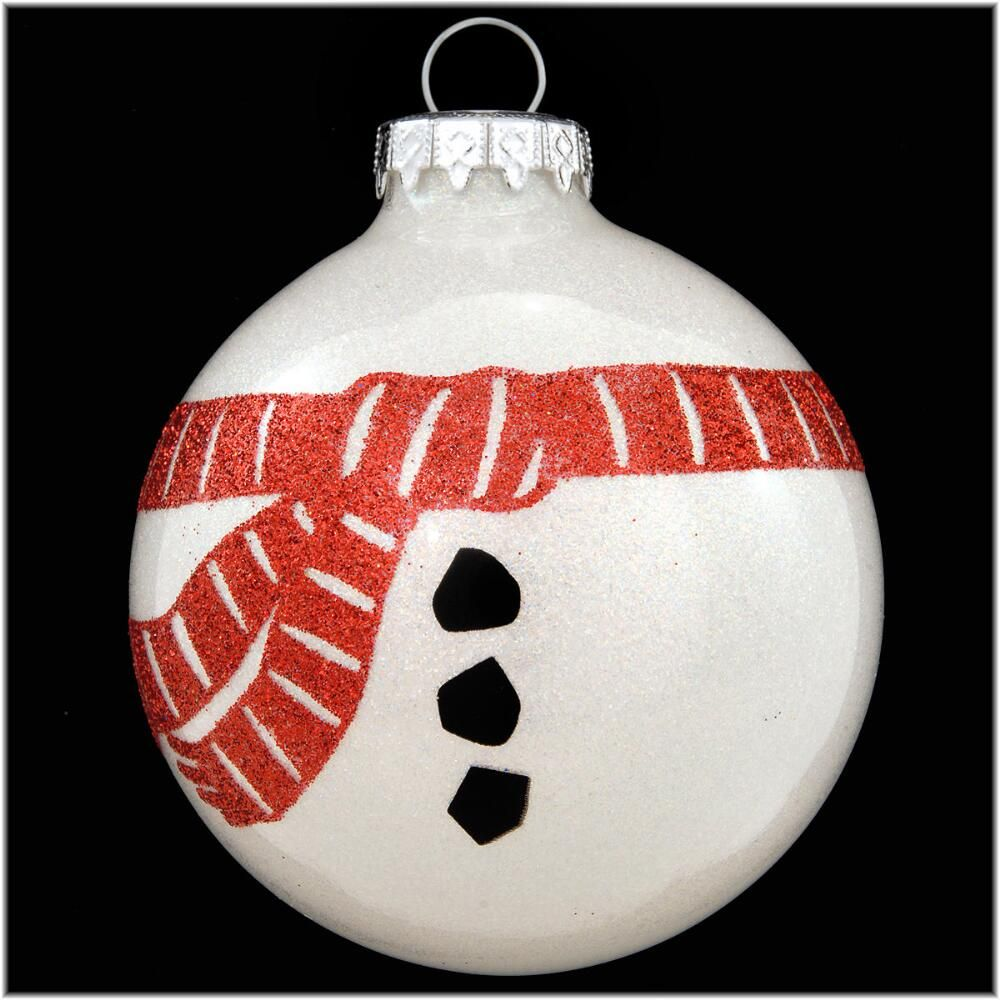 Snowman Scarf Sparkle Glass Ornament Diy snowman