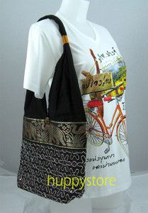 EMBROIDERED COTTON HILL TRIBE ETHNIC HIPPIE/HIPPY SHOULDER TOTE HMONG THAILAND, Start at $5.49.