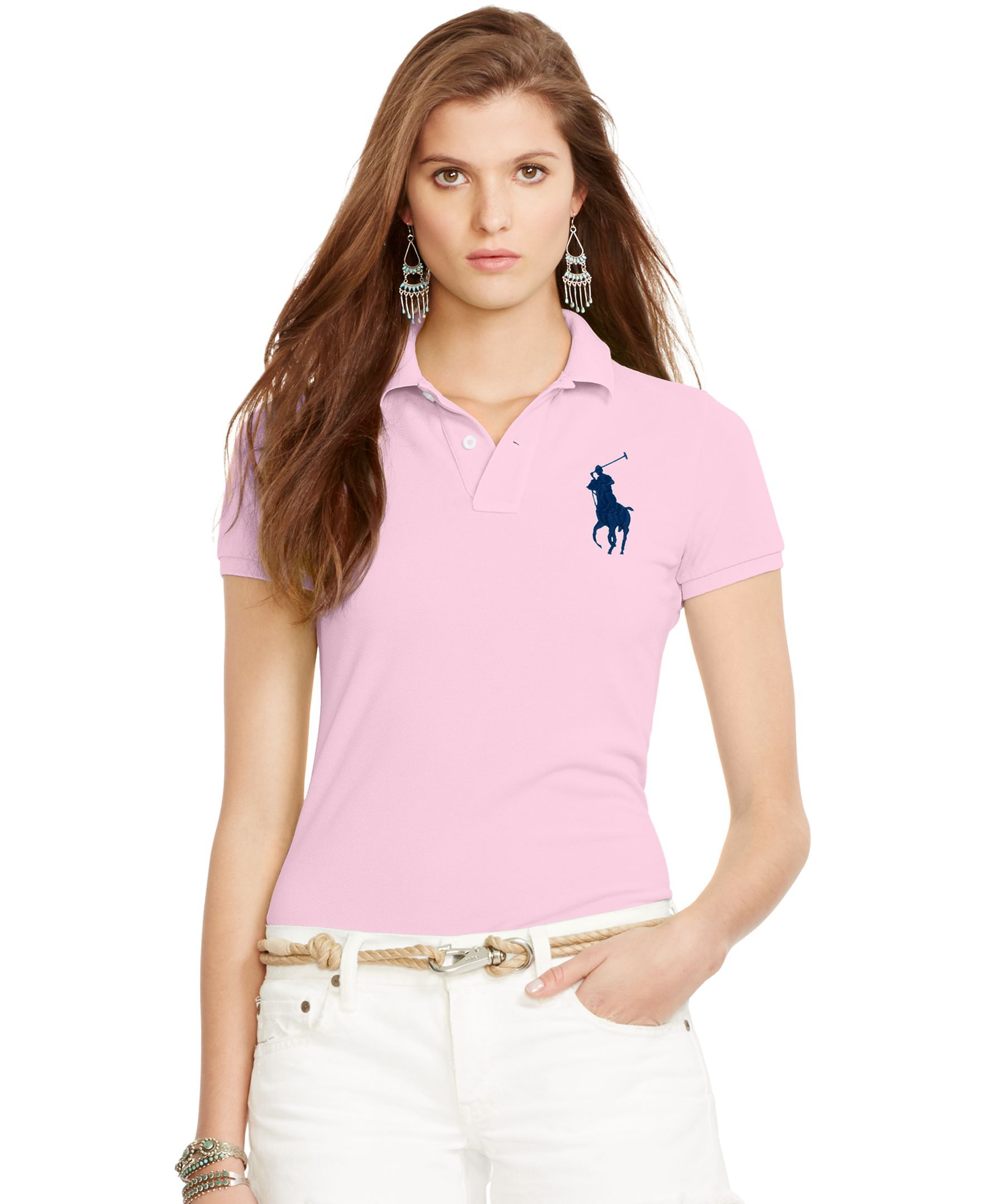370cbe7dcea5 Polo Ralph Lauren Skinny-Fit Big Pony Polo Shirt   Clothes   Ralph ...