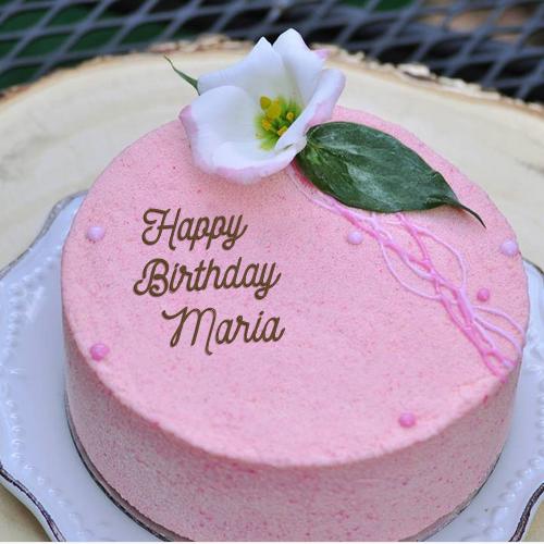 Happy Birthday Maria Video And Images Happy Birthday Cake