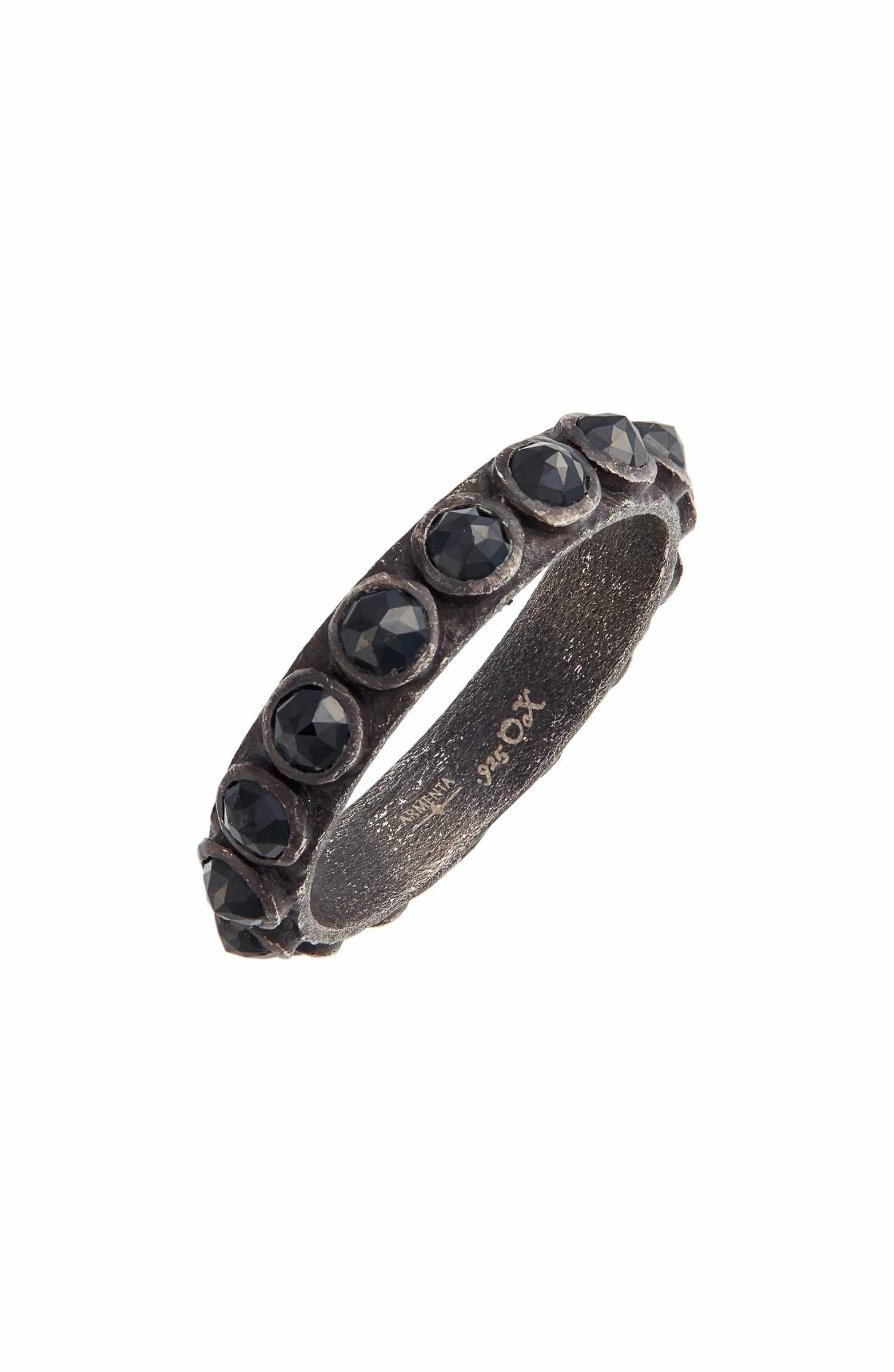 Armenta New World Black Spinel Stacking Ring e6geee2Big