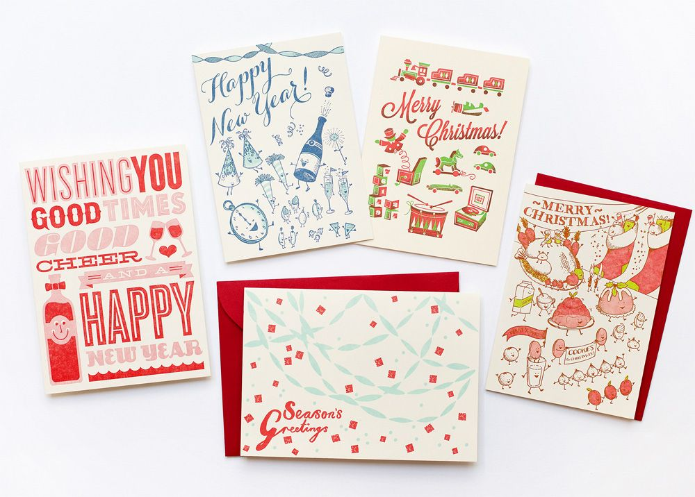 New! Letterpress Holiday Cards | Hot off the Presses | Pinterest ...