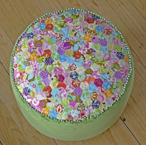 Pouf Selber Nähen шестиугольники Sewing Quilts Und Patchwork