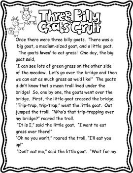 picture about Three Billy Goats Gruff Story Printable titled 3 Billy Goats Gruff Emergent Reader / Site visitors Theater