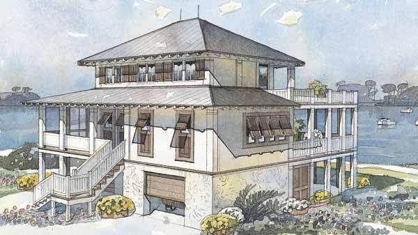 Vintage Farmhouse Coastal Living Cottage Cottage House Plans Southern Living House Plans Cottage Plan