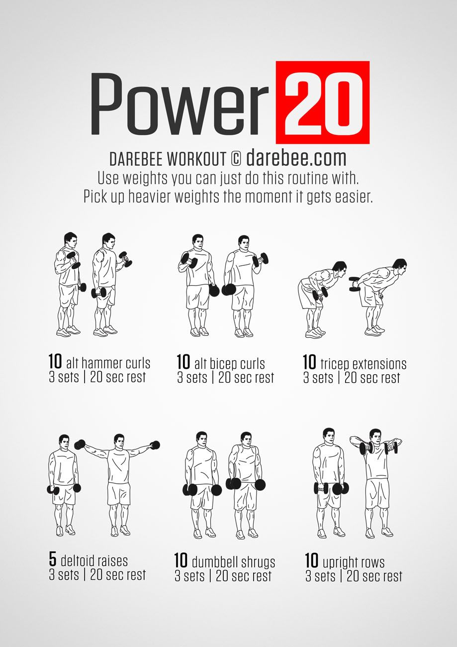 Gym Workouts, Mens Fitness Workouts, Dumbbell Workout Routine, Darbee